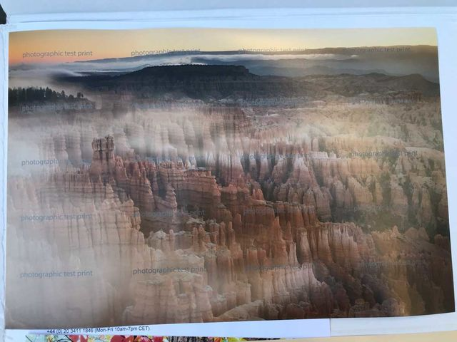 """Bryce Canyon's Inspiration Point"" - Fuji DPII sRGB Test Print"