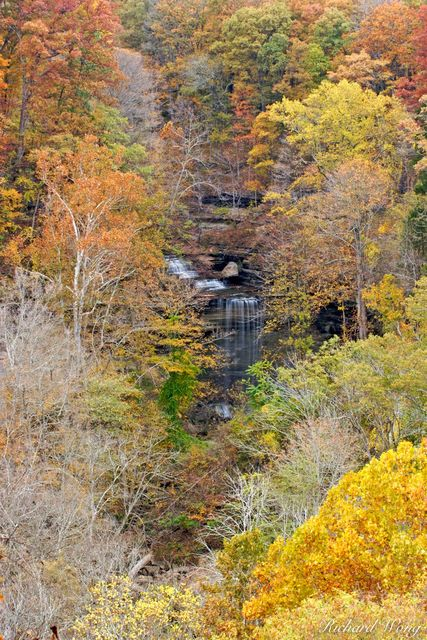 Big Clifty Falls and Fall Foliage, Clifty Falls State Park, Madison, Indiana, photo