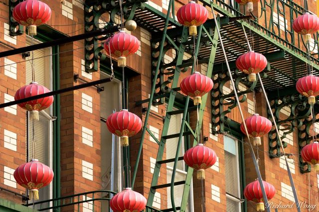 Chinese Lanterns in Chinatown, San Francisco, California, photo