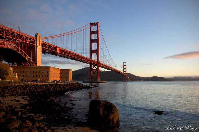 Golden Gate Bridge and Fort Point, San Francisco, California, photo