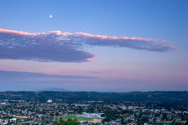 Moon Over San Gabriel Valley print