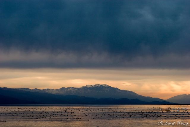 Stormy Sunset, Salton Sea, California, photo