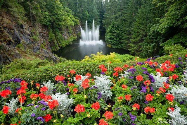 Ross Fountain, The Butchart Gardens, Vancouver Island, B.C., photo