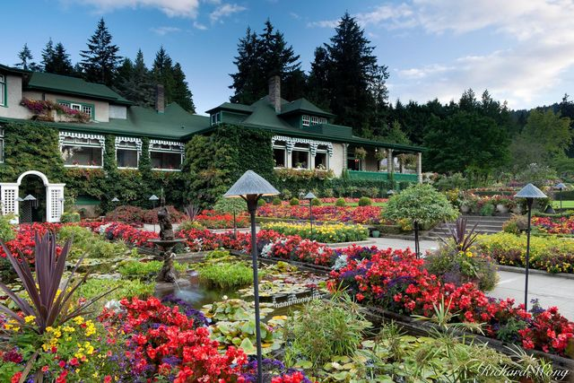 Italian Garden and Dining Room Restaurant at The Butchart Gardens, Brentwood Bay, B.C.