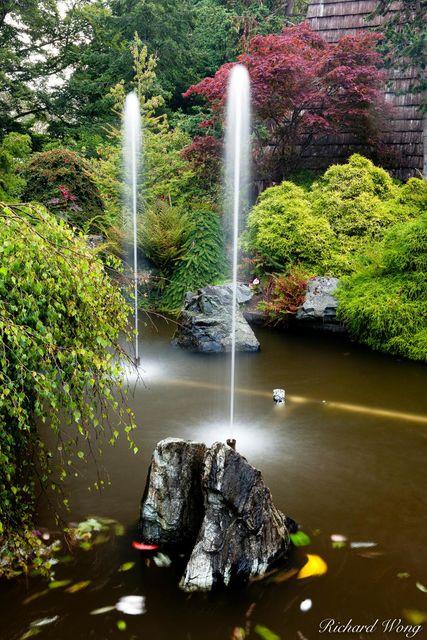 Beacon Hill Park, Garden Water Fountains, Victoria, British Columbia, photo