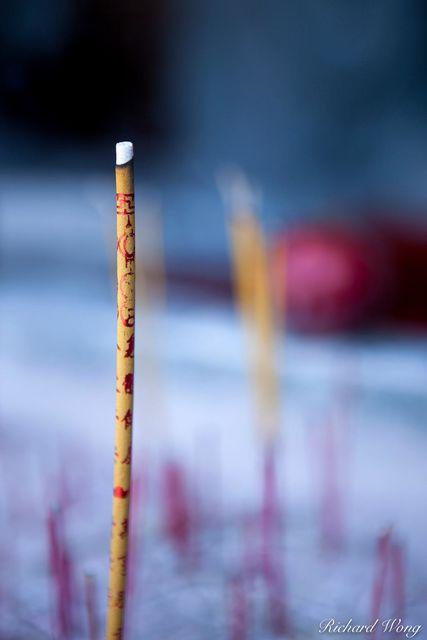 Burning Incense - International Buddhist Temple, Richmond, British Columbia, photo
