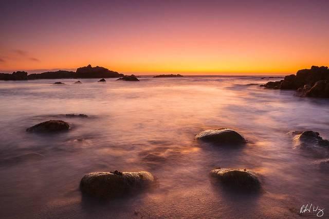Asilomar State Beach Sunset, Pacific Grove, California, photo