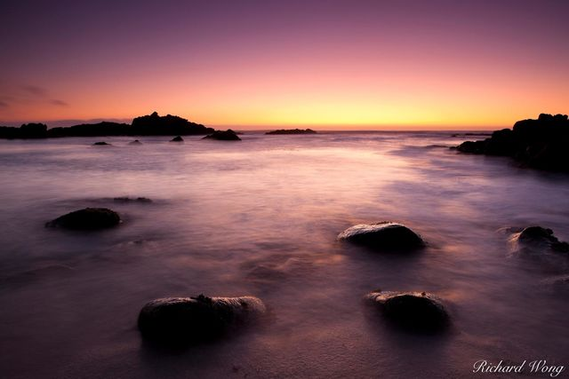 Asilomar State Beach Sunset, Pacific Grove, California, photo