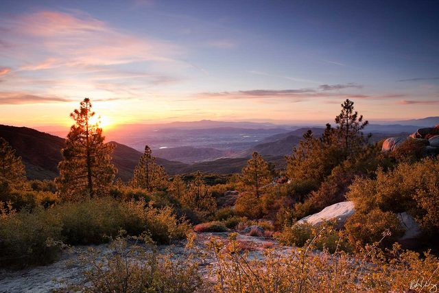 Indian Vista Scenic View from San Jacinto Mountains, San Bernardino National Forest, California, Photo