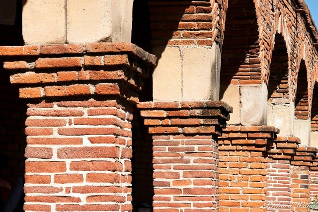 Mission Architecture Columns, Mission San Juan Capistrano, California, photo
