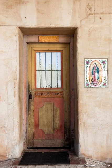 Guadalupe Chapel, door, Mission San Miguel Arcangel, San Miguel, California, photo