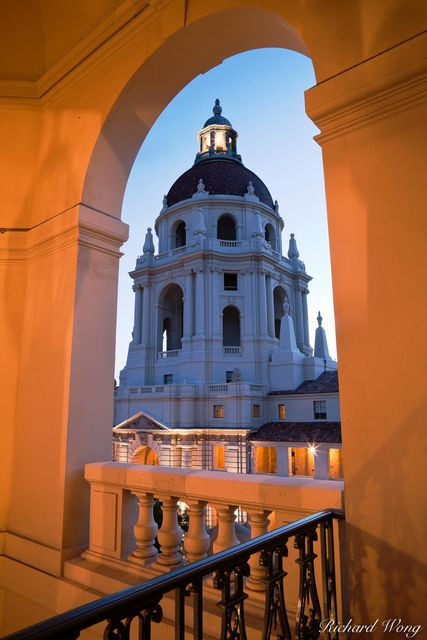 Pasadena City Hall Architecture, California, photo