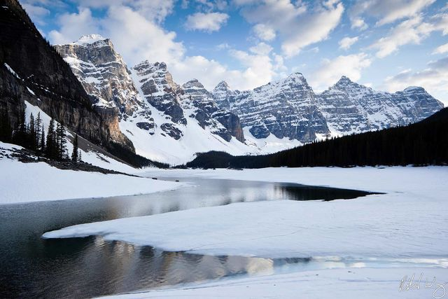 the valley of ten peaks, moraine lake, banff national park, alberta, canada, photo