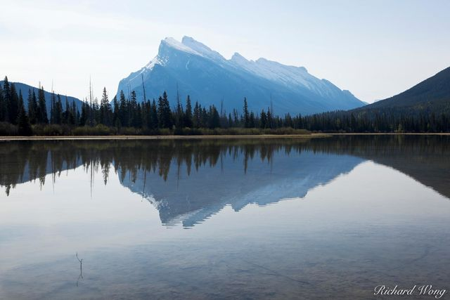 Mount Rundle Reflection in Vermillion Lakes, Banff National Park, Alberta, Canada, Photo