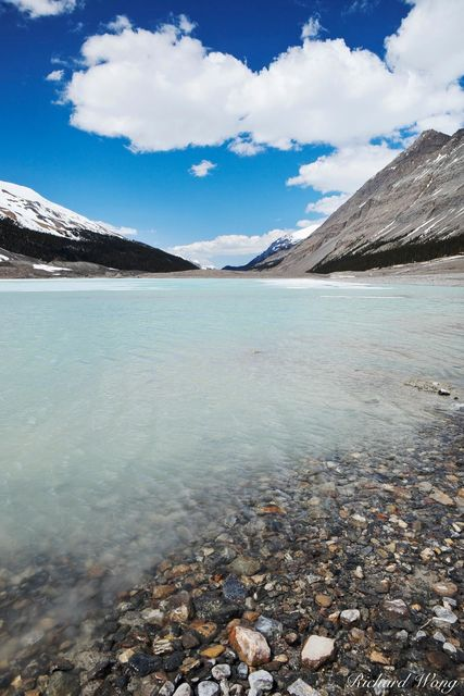 Sunwapta Lake is Fed by Athabasca Glacier Water, Jasper National Park, Alberta, Canada, Photo