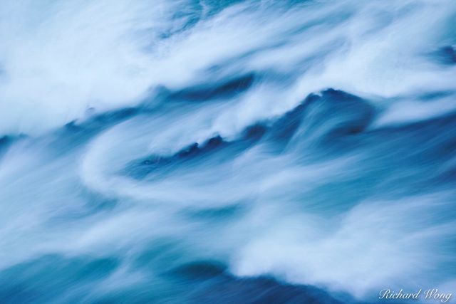Bow Falls Water Abstract, Banff National Park, Alberta, Canada, photo