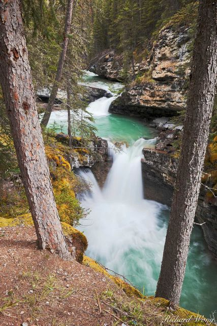 Small Waterfall Along Johnston Creek in Johnston Canyon, Banff National Park, Alberta, Canada, photo