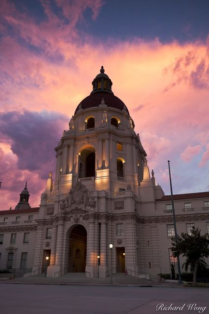 Pasadena City Hall at Sunset, California, photo