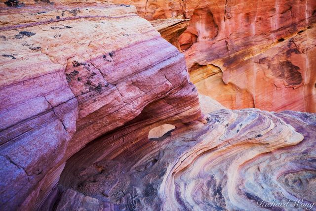 Rainbow Vista Colorful Sandstone, Valley of Fire State Park, Nevada, photo