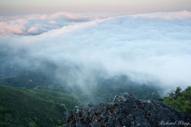 Fog Rolling into Marin County, Mount Tamalpais State Park, California