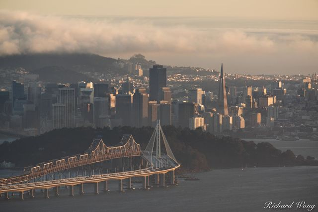 Downtown San Francisco Scenic View From Grizzly Peak Blvd., Berkeley Hills, California, photo
