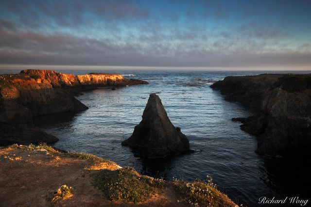 Sunrise at Mendocino Headlands State Park, Mendocino, California, photo