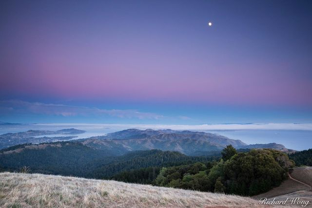 Earth Shadow Over San Francisco, Mount Tamalpais State Park, California, photo
