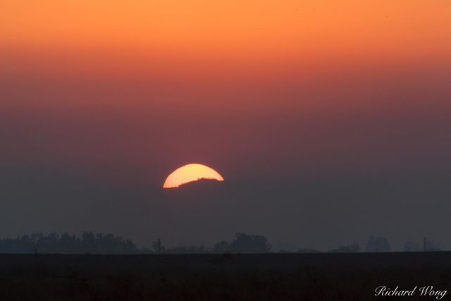 Sunset in the Central Valley, Merced National Wildlife Refuge, California, photo