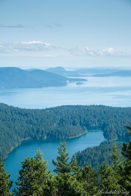 View from Mount Constitution, Orcas Island, Washington, photo