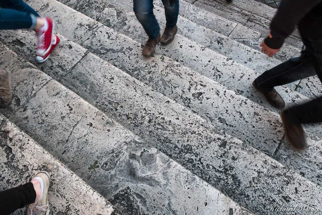People Walking The Spanish Steps, Rome, Italy, photo