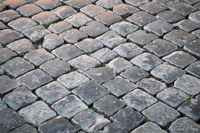 Cobblestone at Piazza Navona, Rome, Italy, photo