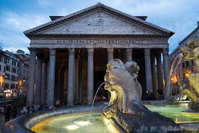 Fontana del Pantheon at Piazza della Rotonda, Rome, Italy, photo