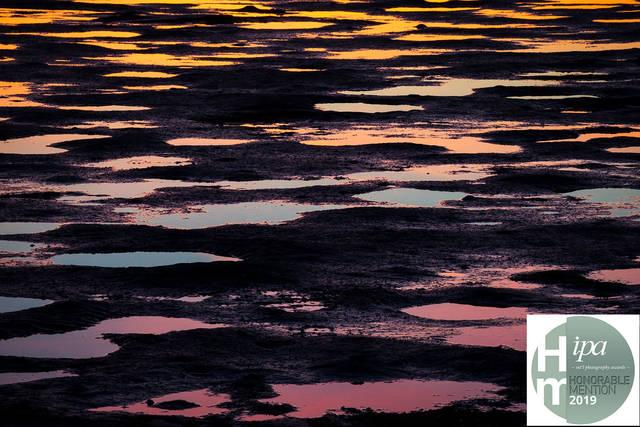 puddles, alameda, california, beach abstract, robert crown memorial state beach, photo