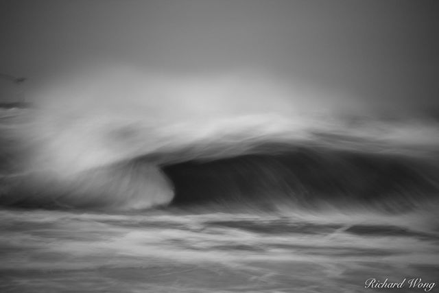 The Wedge Waves Black and White, Newport Beach, California, photo