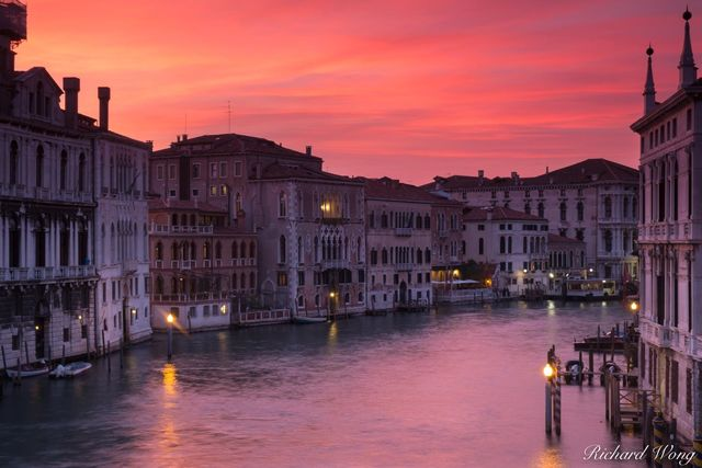 Grand Canal Sunset, Venice, Italy, photo