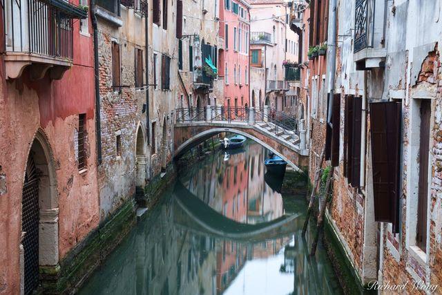 Small Canal and Bridge, Venice, Italy, photo