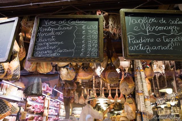 Meat Market in Old Town Bologna, Italy, photo