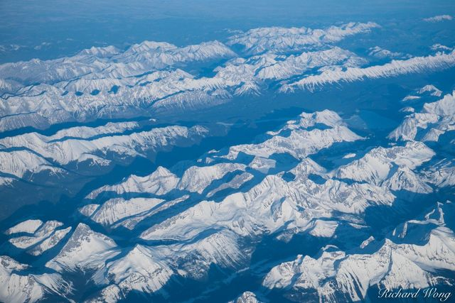 Canadian Rockies Aerial, Canada, Photo