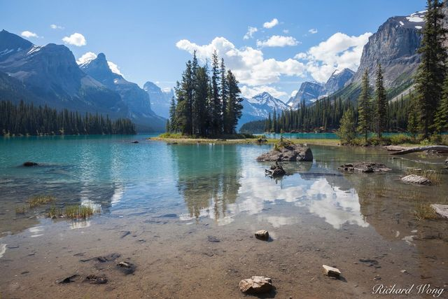 Peter Lik Spirit Island Style Photo, Spirit Island at Maligne Lake, Jasper National Park, Alberta, Canada