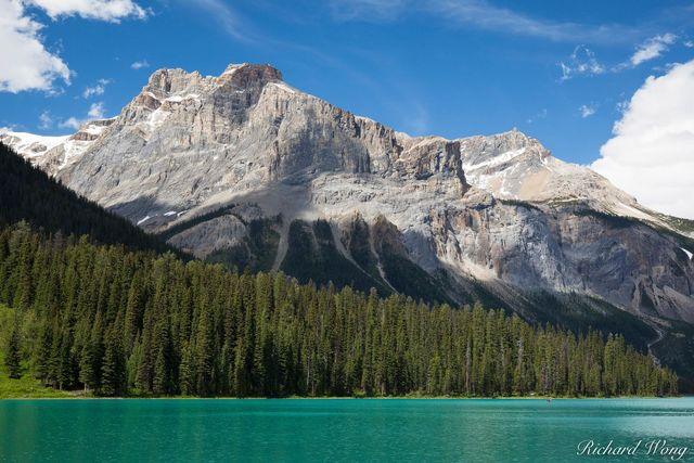 Emerald Lake in Summer, Yoho National Park, British Columbia, Canada, Photo
