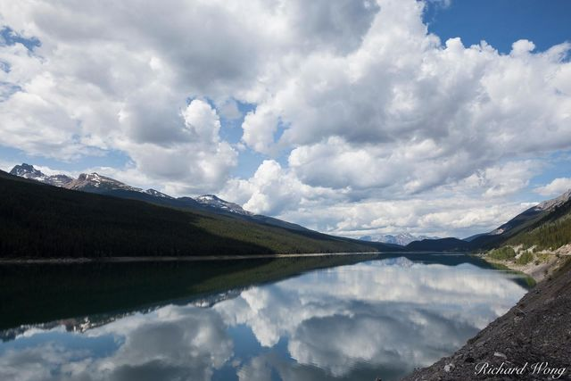 Medicine Lake, Jasper National Park, Alberta, Canada, Photo
