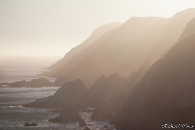 Coastal Cliffs at Sunset, Point Reyes National Seashore, California, photo