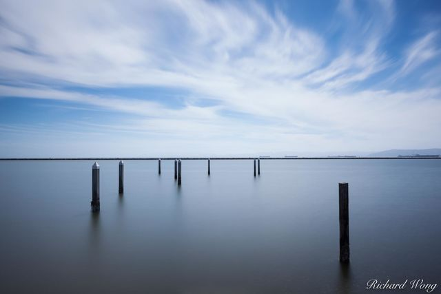 Wooden Pilings at Alameda Point, Alameda, California, photo