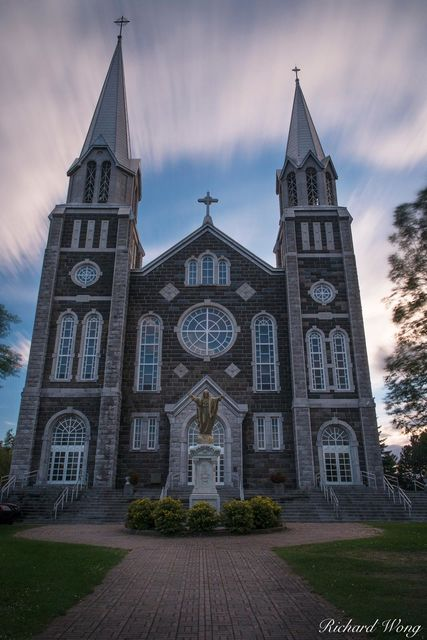 Baie-Saint-Paul Church, Quebec, Canada, photo