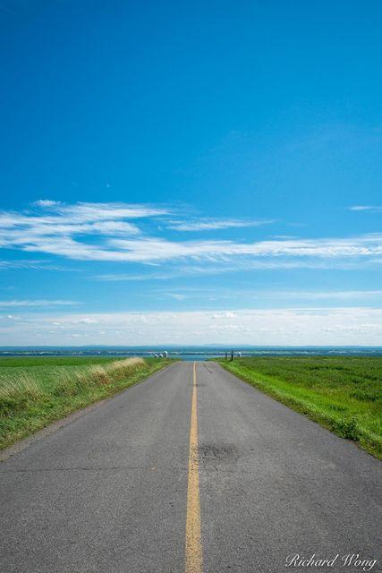 Rural Road on Ile d'Orleans, Quebec, Canada