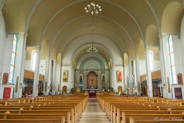 Baie-Saint-Paul Church Interior, Charlevoix, Quebec, Canada, photo