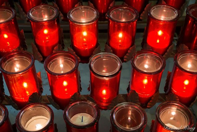 Devotion Candles Inside Eglise Saint-Roch Church, Quebec City, QC, Canada, photo
