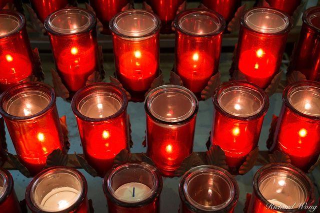 Devotion Candles Inside Eglise Saint-Roch Church, Quebec City, QC, Canada