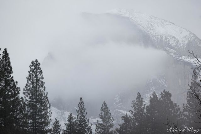 Half Dome and Late Fall Snowstorm, Yosemite National Park, California, photo