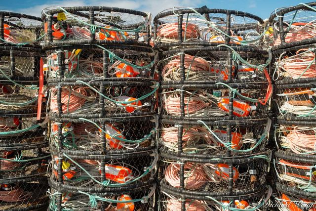 Crab Pot Traps, Bodega Bay, California, photo